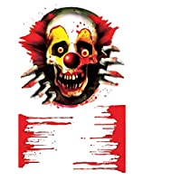 Xue Halloween-Tapeten, Kreatives, Schädel Skelett, Transparent, PVC, Toiletten Aufkleber, Kunst Dekor, Wanddecal, Wandbild, Aufkleber, Kunst Dekor, Selbstklebendes Papier