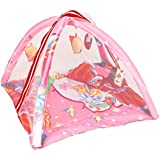 BabyShower Kids Bedding Set With Mosquito Net, Hanging Toys & Pillow For Baby - Pink_BDNT106