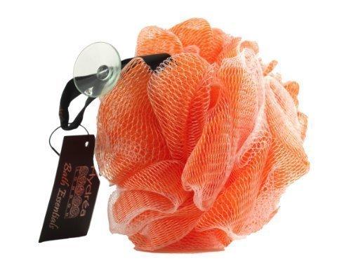 Large Fleur de Douche Exfoliante Orange de Qualité Supérieure