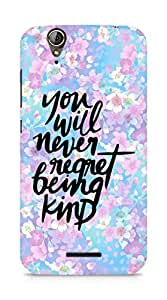 AMEZ you will never regret being kind Back Cover For Acer Z630S