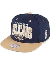 Casquette Team Arch New Orleans Pelicans bleu marine-beige sable MITCHELL & NESS
