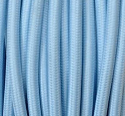Textilkabel Stoffkabel Light Blau , 2-adrig rund , 2x0,75 von Globe Warehouse - Lampenhans.de