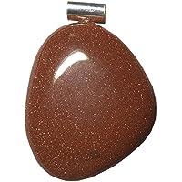 KRIO® - schöner großer Goldfluß Anhänger mit Silberöse preisvergleich bei billige-tabletten.eu
