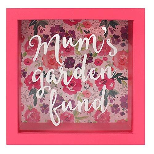 Salvadanaio con cornice in vetro pannello floreale Fusion Mums Garden Fund Money box