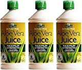 Aloe Pura Aloe Vera Juice Maximum Strength 1 Litre x 3 Bottles