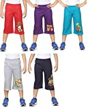 #1: GMR Boys 3/4th Track pant ,Capri combo pack of 5 (55,60,65,70,75,80 CM)( color may vary)