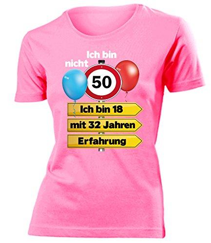 Ich Bin Nicht 50 Ich Bin 18 mit 32 Jahren Erfahrung Damen Frauen T Shirt Geschenke Geburtstag Ideen Happy Birthday Artikel Mama Oma Freundin ()