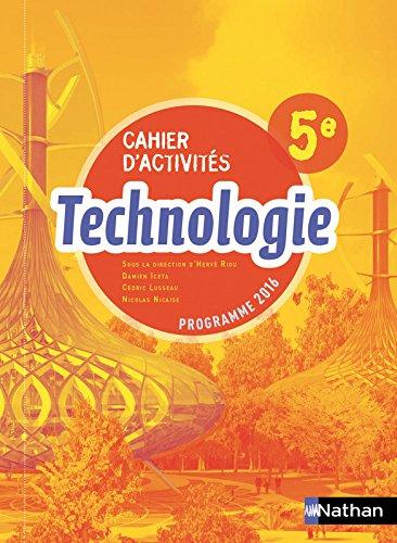 Technologie 5e : Cahier d'activités