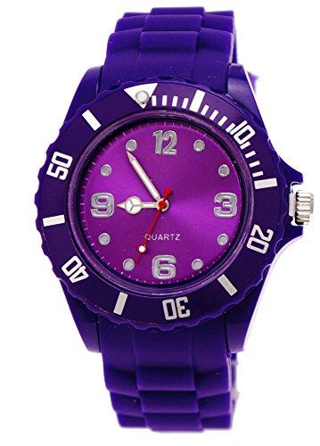 Schlichte Sportliche Moderne Armbanduhr in Lila Damenuhr Uhr Armbanduhr