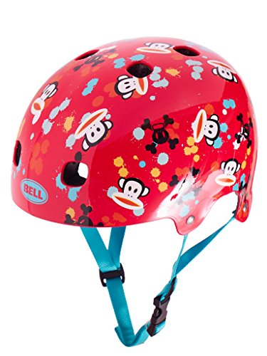 Bell Kinder Fahrradhelm Segment JR, Red Paul Frank Paint Ball, 51-55 cm, 210093016