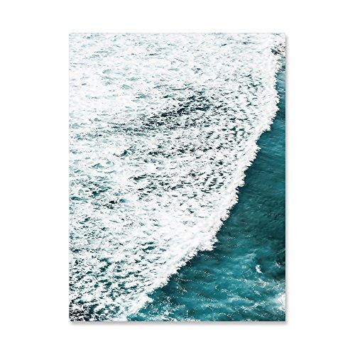 TIANLIANG Foglie Verdi Waterwave Stil Nordico Natura Stampa Poster Motivazionali Minimalista Arte...