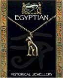 Egyptian Cat Pendant Gold Plated on Chain - Egyptian Jewellery