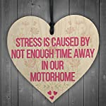 RED OCEAN Stress Motorhome Friendship Gift Family Present Hanging Plaque Birthday Gift Sign