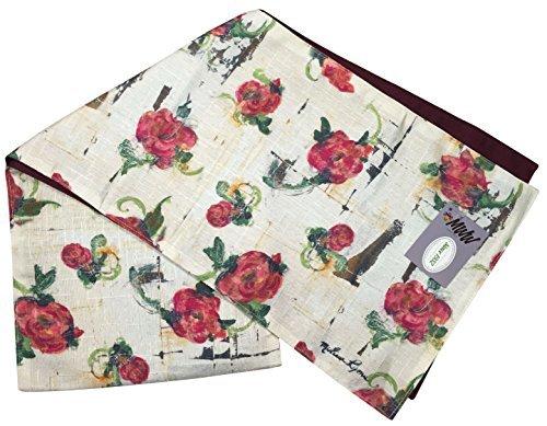 Manuelle Floral Fusion von Melissa Lyons gefüttert Reverisble leicht sflf7233x 182,9cm Multi - Country Outdoor-beistelltisch