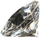 Deko - Diamanten. Größe ca 32 mm. 10 Stück. Farbe: Farblos NATUR