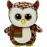 Beanie Boos Buddy Wise / Weihnachtseule mit Schal 24cm [Importación alemana]
