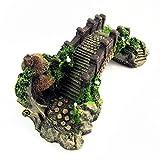 Efanr - Adorno de resina para decoración y mantenimiento de peces, diseño de puente de arco clásico colorido
