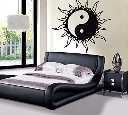 Sun Wandtattoos Yin Yang Zeichen Aufkleber Schlafzimmer Kunstwandhauptdekor Wohnzimmer Abnehmbare Vinyl Wandaufkleber Neue Ankunft 56 * 56 cm