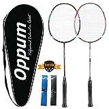 OPPUM 100% Full-Carbon Fiber Professional 2 Player Badminton Racquets Set Carbon-fiber Badminton Rackets
