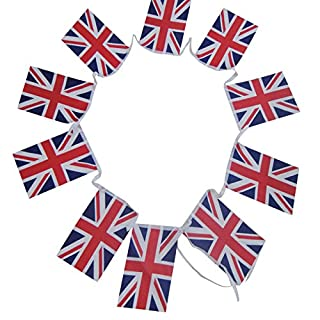G2PLU UK England Flag Bunting, British Flag Banner Pennant, The Great Britain Nation Flag 11 Meter with 40 Pendants (United Kingdom)