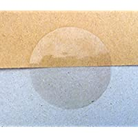 Minilabel 25 mm Round Gloss Seals Stickers - Clear Transparent (Pack of 102 Labels)