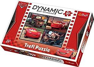 TREFL Dynamic 35191 - Puzle (50 piezas), diseño de Cars