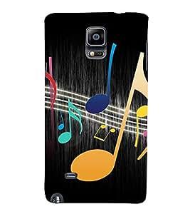 Music Beats 3D Hard Polycarbonate Designer Back Case Cover for Samsung Galaxy Note 4 :: Samsung Galaxy Note 4 N910G :: Samsung Galaxy Note 4 N910F N910K/N910L/N910S N910C N910FD N910FQ N910H N910G N910U N910W8