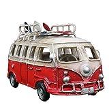 AIOJY Sammelfahrzeuge Nordic Retro Distressed Bus Abrieb Busmodell Strand Skateboard Surf Bus Dekoration Festival Geburtstagsgeschenk Sammlung Geeignet for Kleinkinder, Junge Mit Mädchen