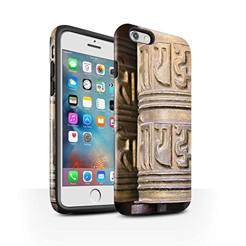 STUFF4 Glanz Harten Stoßfest Hülle / Case für Apple iPhone 6+/Plus 5.5 / Ginkaku-Ji Tempel Muster / Innerer Frieden Kollektion Gebetsmühle