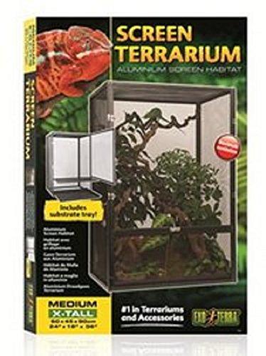exo terra terrarium 90x45x60 Exo Terra PT2678 Aluminium Gaze Terrarium, schwarz