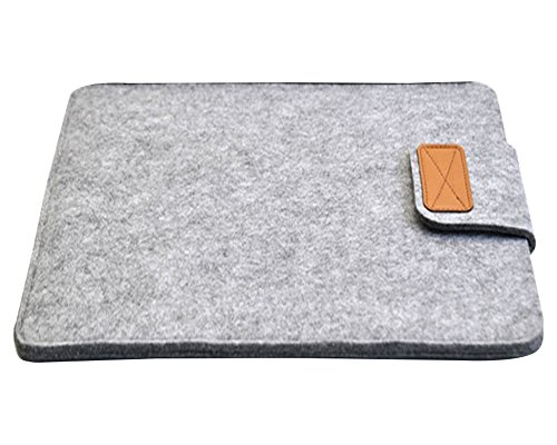 Laptoptasche Notebooktasche Filz Laptop Schutzhülle Hülle Aktentasche Für Apple MacBook / ipad 8-15 Zoll Hellgrau (9 Zoll Tablet Tasche Für Mädchen)