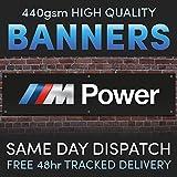 BMW M POWER Full Colour Vinyl Banner Garage Man Shed Cave Workshop