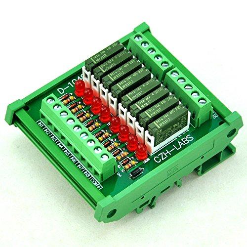 Electronics-Salon Slim DIN Rail Mount 24 V DC Spültisch/NPN 8 spst-no 5 A Power Relay Modul, PA1 a-24 V. - 24v 5 Din-module