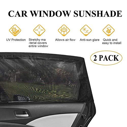 2 Pack Auto-Seitenfenster Sonnenschutz für Baby, UV-Schutz Vorhang Mesh Sun Heat Block Sonnenschutz, Universal für Autos und SUVs, spezielle Moskito-beständige Bildschirm Fenster für Kinder Haustiere