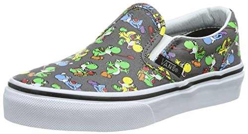 Vans Unisex-Kinder Classic Slip-On Low-Top Grau ((Nintendo) Yoshi/Pewter) 35 EU