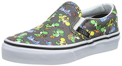 Vans Classic Slip-On, Scarpe da Ginnastica Basse Unisex - Bambini, Grigio ((Nintendo) Yoshi/Pewter), 35 EU