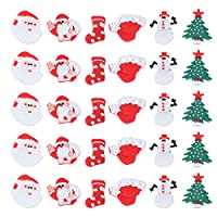 ‏‪ULTNICE 30pcs Shoe Charms Cartoon Christmas Cartoon Charms Christmas PVC Shoe Charms for Christmas Shoes Hole Shoe Accessories‬‏