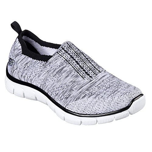 Skechers Empire-Inside Look, Scarpe da Ginnastica Basse Donna White/Black