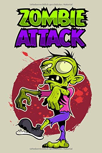 (Zombie Notizbuch: Zombie Attack Cover Design / 120 Seiten / Kariert / DIN A5 + / Soft Cover / Optimal als Tagebuch, Bullet Journal, Malbuch, Skizzenbuch usw.)