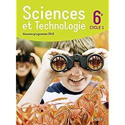 Sciences et technologie 6e Cycle 3 : Livre de l'élève - Format compact - Nouveau programme 2016