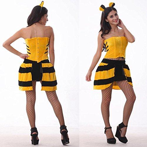Bee Kostüm Sexy - DLucc Halloween bee bee Kleid Uniformversuchung Role-playing Tier Libelle DS-Kostüme Bühnenkleidung