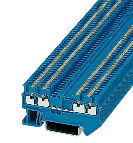 Preisvergleich Produktbild PHOENIX CONTACT Durchgangsklemme PT 1,5/S-QUATTRO BU, 50 Stück, 3208208