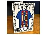 LA LIGA SPANISH FOOTBALL FRIDGE MAGNET BIRTHDAY CARDS - ANY NAME, ANY NUMBER, ANY TEAM COLOURS !!!!!