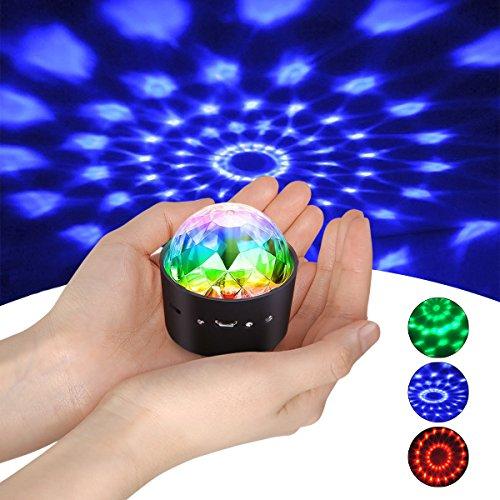 t,YIKANWEN Stimme Steuerung Disco Party Lichter Bühnenbeleuchtung Effektlicht DJ Stroboskop Kugel mit Spiegeln & Glitzereffekt für Parties Kinder Geburtstag Club ()