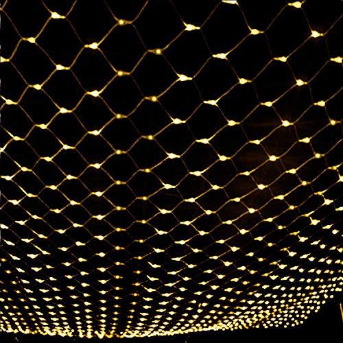 YAMADIE Lichttechnik LED Netz Lichter blinkende Lichter im Freien Wasserdichte Weihnachten Hochzeit Sternenhimmel dekorative Lichter 6m x 4m hoch (Freien Weihnachten-lichter Im)