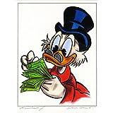 Original Acrylfarben auf Acrylmalkarton: Dagobert Duck Cash only! / 30x40 cm