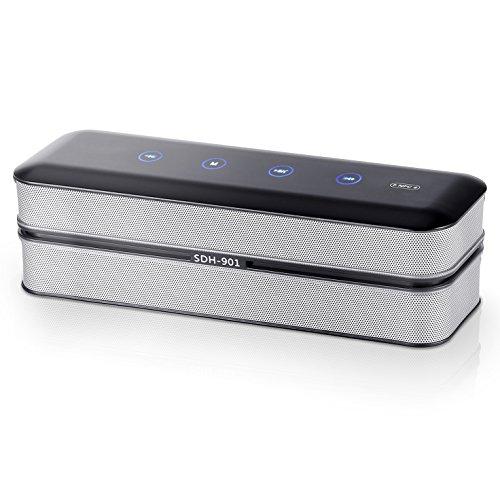 Altavoz Bluetooth Portátil, Yokkao® Altavoz Inalámbrico con Radio FM y Control Táctil, Dispone de Micrófono Incorporado y Soporta la función NFC, Alta Calidad de Sonido para Smartphones iPhone/ Samsung/ Huawei/ Xiaomi/ iPod/ iPad/ Tablets y MP3