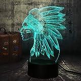 WangZJ 3d Illusion Nachtlicht/Haus Dekor/bunte Led Kunst Nachtlicht/Weihnachtsgeschenk Nachtlicht /Menschen