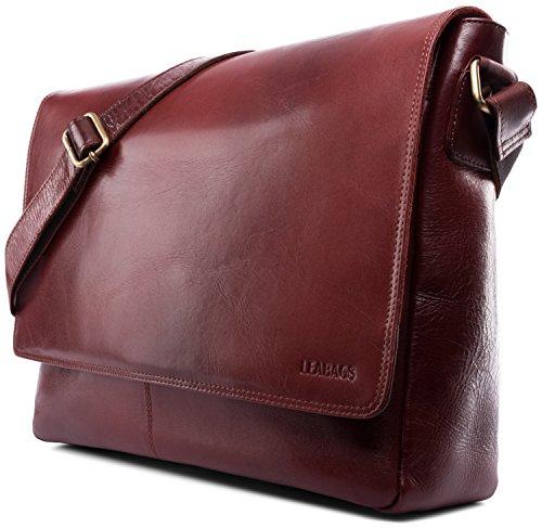 LEABAGS Oxford sac bandoulière rétro-vintage en véritable cuir de buffle - Olive TerraRosa