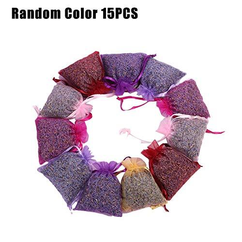 luckything 15 Lavendelsäckchen,Lavendel Lavendelsäckchen,Lavendel Duftende Duftsäckchen Beutel Taschen Kleidung Duftenden Für Schubladen Schränke Zimmer Kleiderschrank Badezimmer Autos -